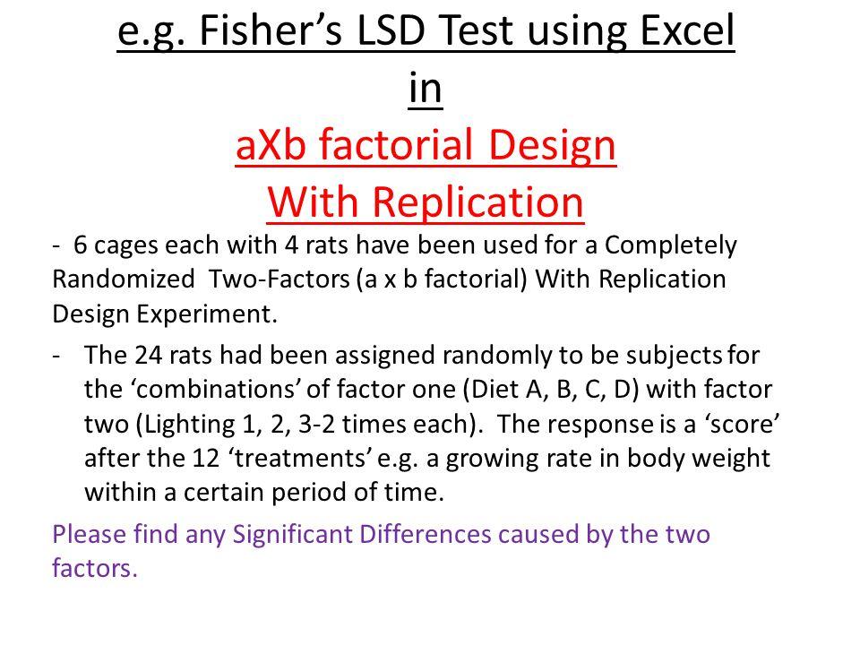 Running Fisher's LSD Multiple Comparison Test in Excel - ppt