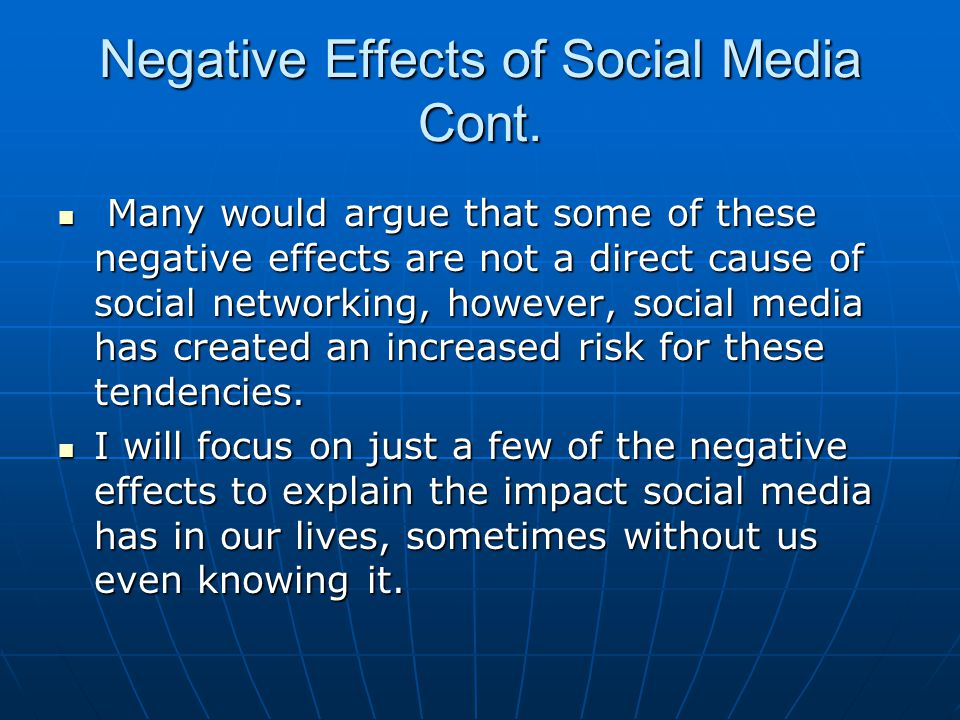 good and bad effects of social media