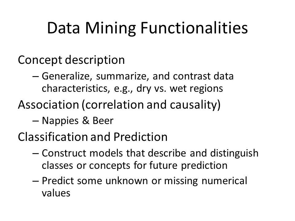 concept description in data mining pdf