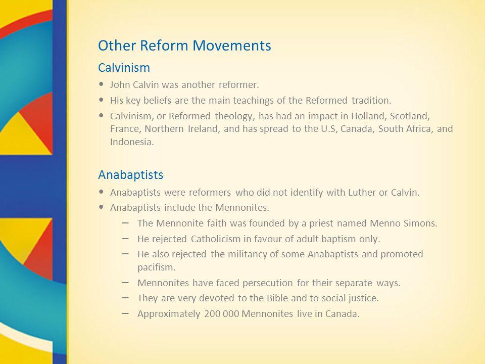 what were the main teachings of john calvin