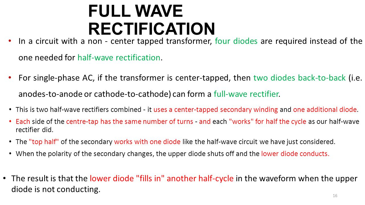 Diode Circuits Applications Ppt Download Full Wave Circuit 16 Rectification
