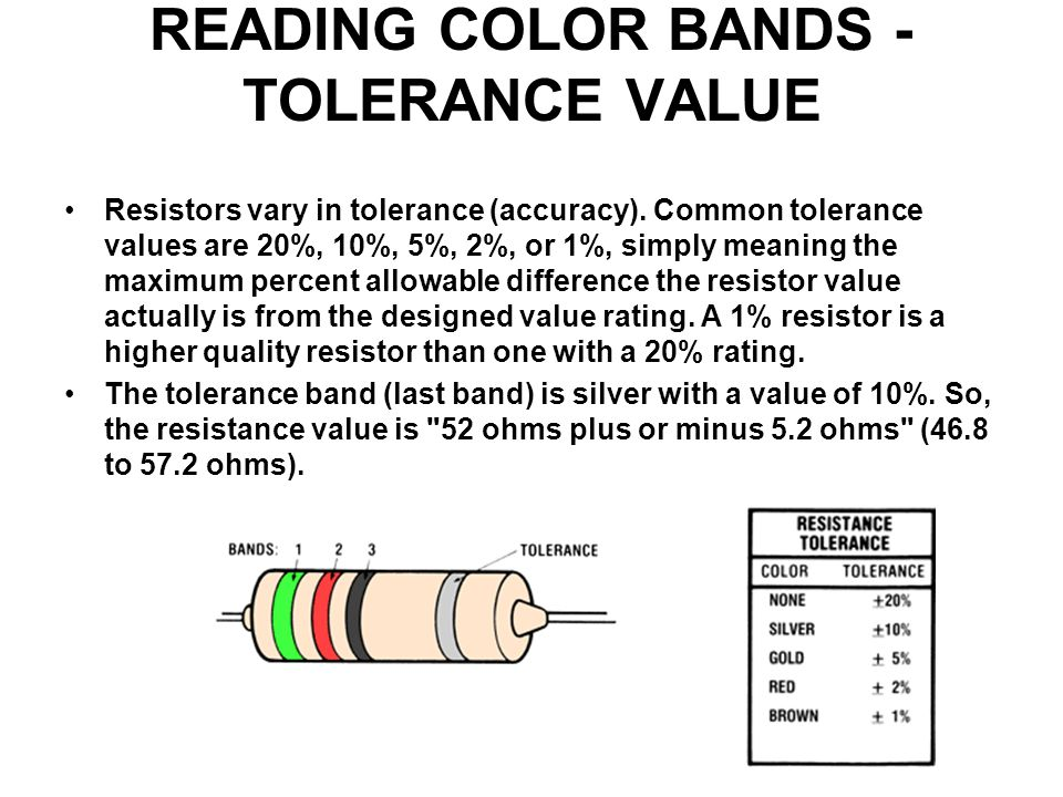 Resistors Resistors Limit Current Create Voltage Drops