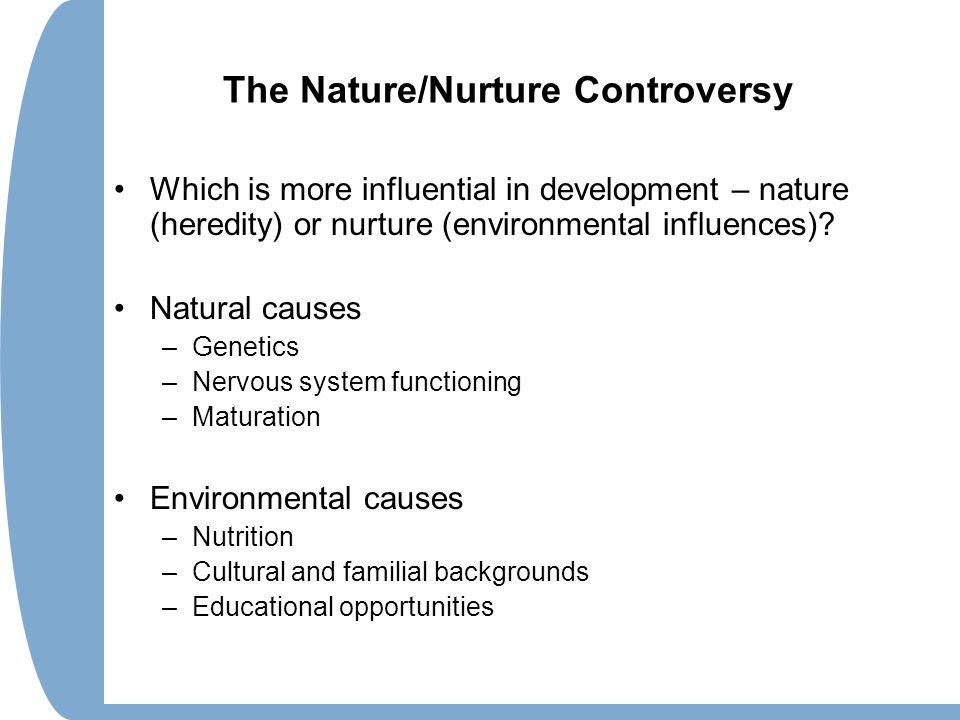nature nurture controversy