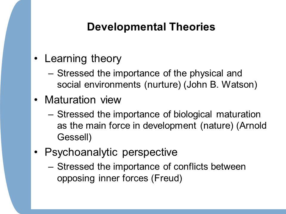 maturation theory
