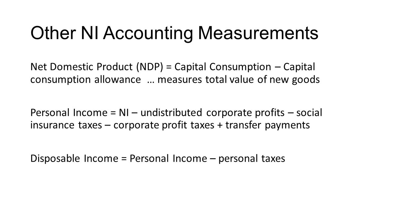 Other NI Accounting Measurements