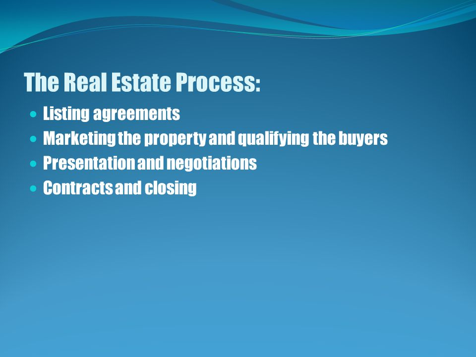 The Real Estate Process: