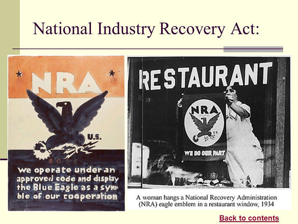 National Recovery Act Poster