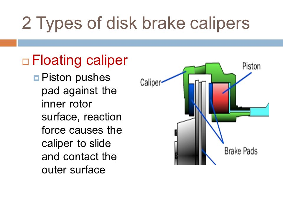 2 Types of disk brake calipers