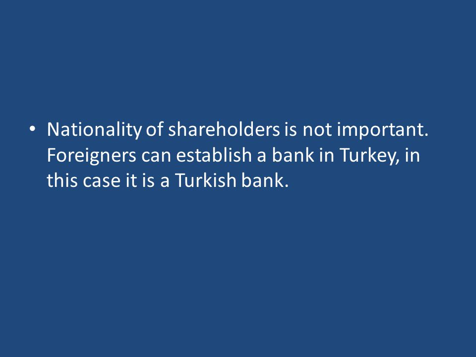 Nationality of shareholders is not important