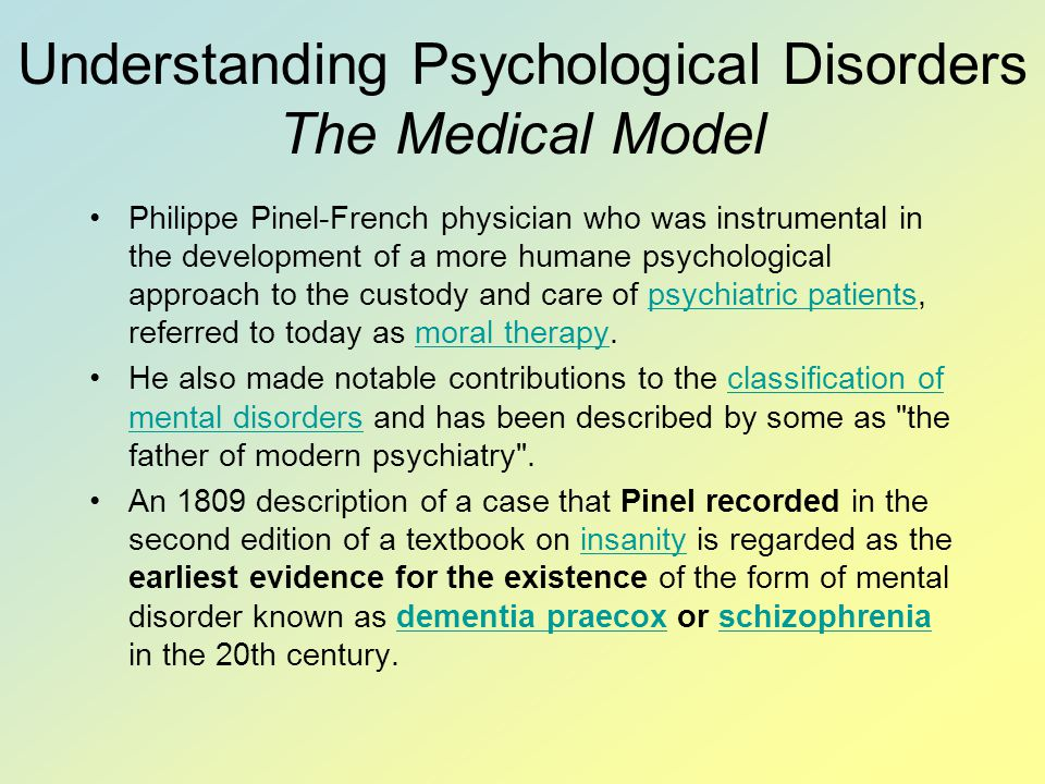 Understanding Psychological Disorders The Medical Model