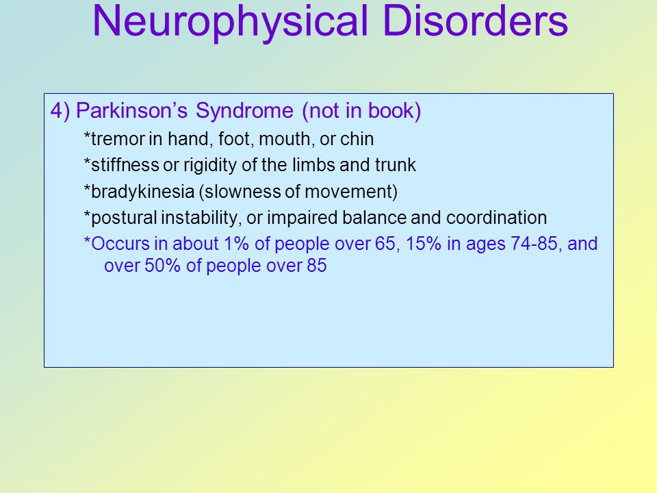 Neurophysical Disorders