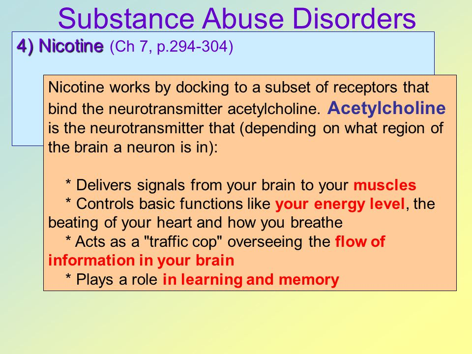 Substance Abuse Disorders