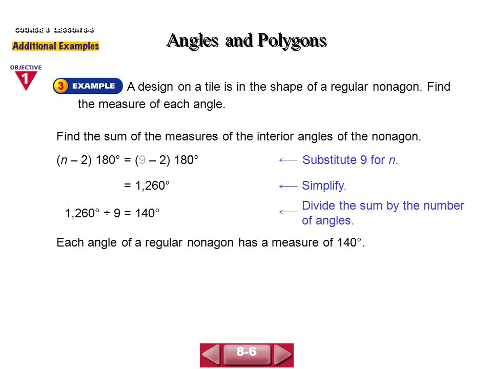 Angles And Polygons Course 3 Lesson Ppt Download