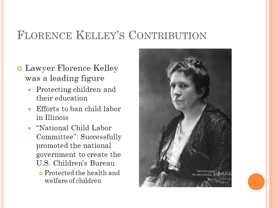 florence kelley contributions