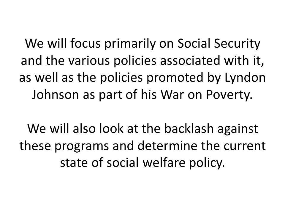 Social Welfare Policy Govt Ppt Download