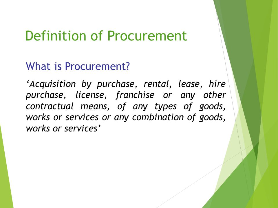 Definition of Procurement