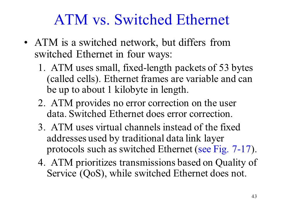 Bilderesultat for atm vs ethernet