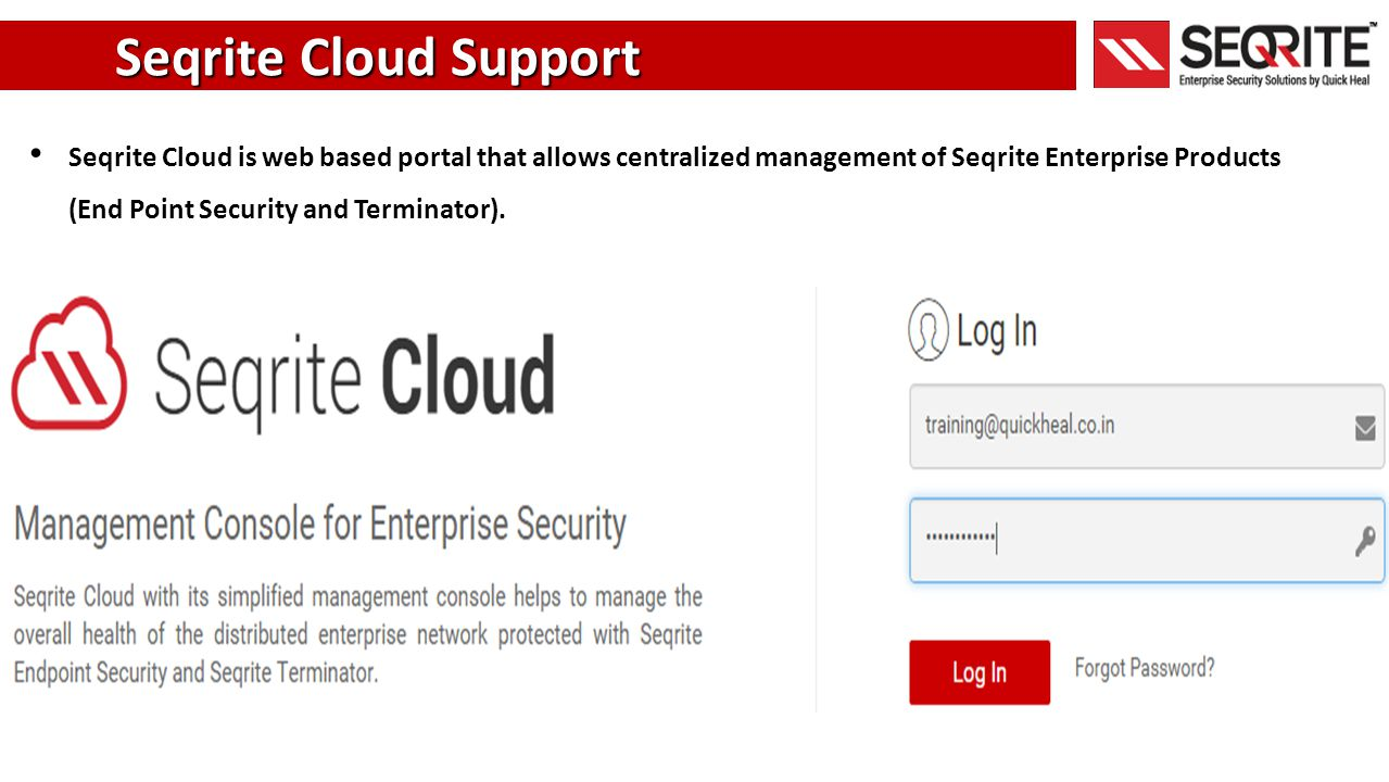 Seqrite Cloud Support .