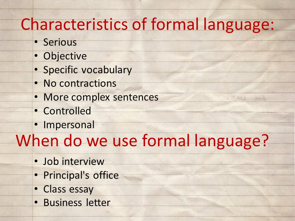 formal and informal essay differences