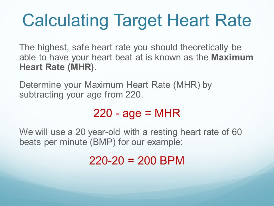 Calculating Target Heart Rate Thr Zone Ppt Video Online Download