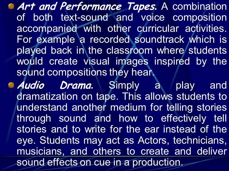 Art and Performance Tapes