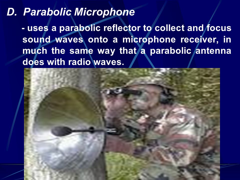 D. Parabolic Microphone