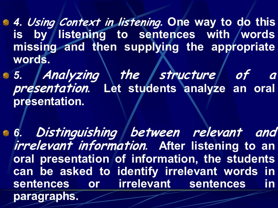 4. Using Context in listening