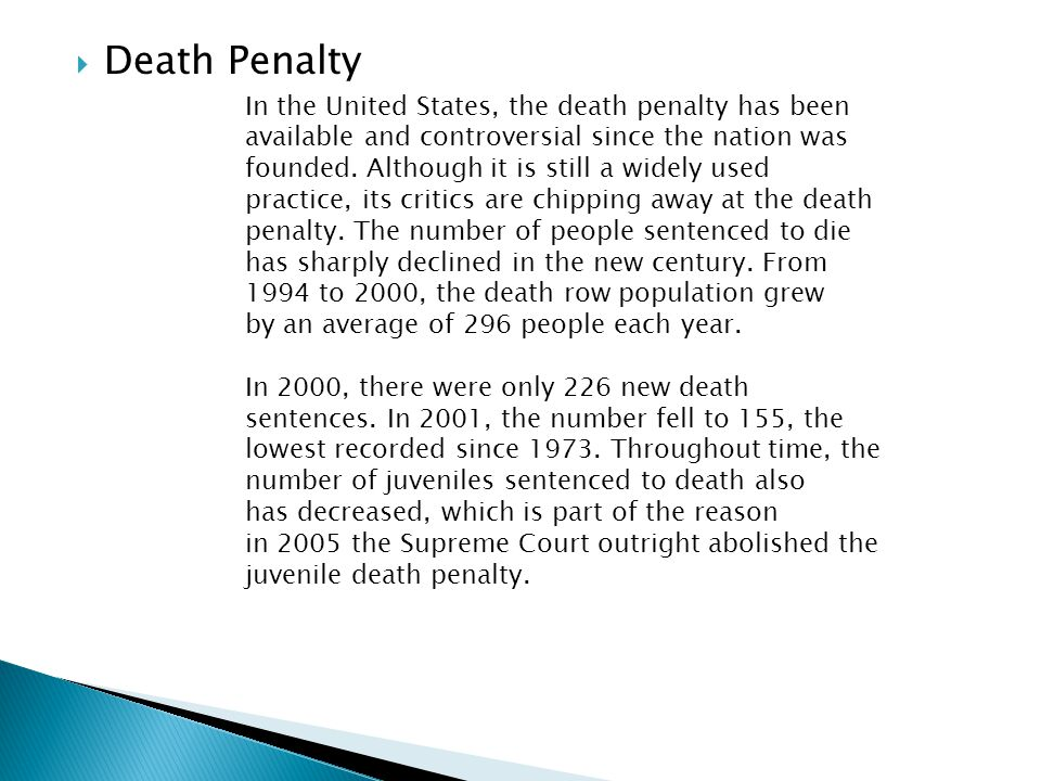 death penalty for minors