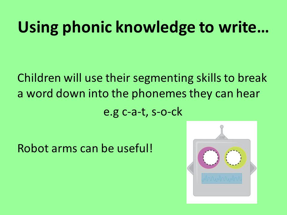 Using phonic knowledge to write…
