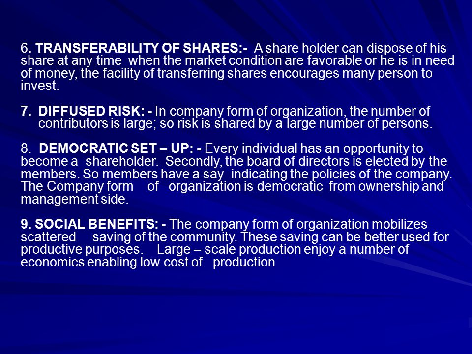transferability of shares Transferability in qualitative research means that results of a study can be applicable to similar situations transferability is comparable to generalisability.