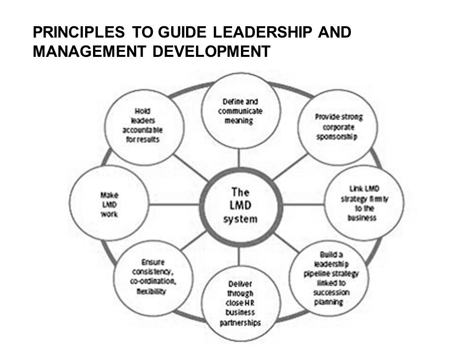 PRINCIPLES TO GUIDE LEADERSHIP AND MANAGEMENT DEVELOPMENT