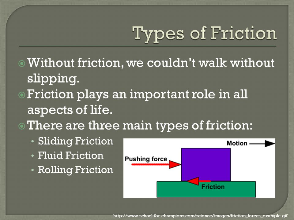 how would life be without friction