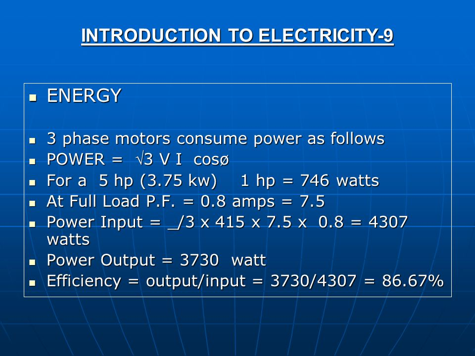 INTRODUCTION TO ELECTRICITY-9