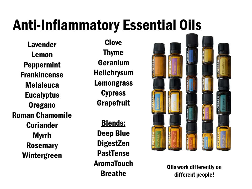 Controlling Inflammation Naturally With Essential Oils Ppt Video