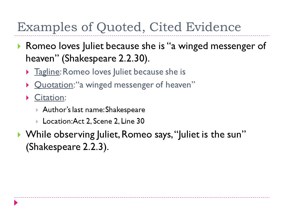 shakespeares romeo and juliet is an example of