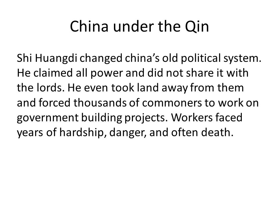 China under the Qin