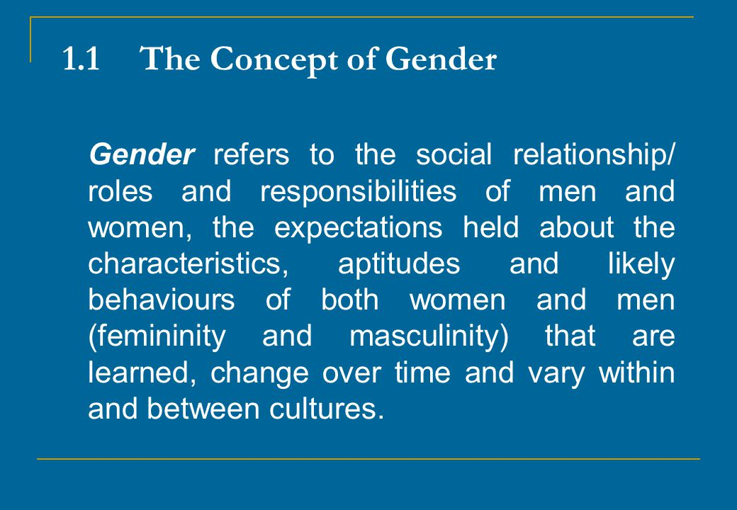 1.1 The Concept of Gender