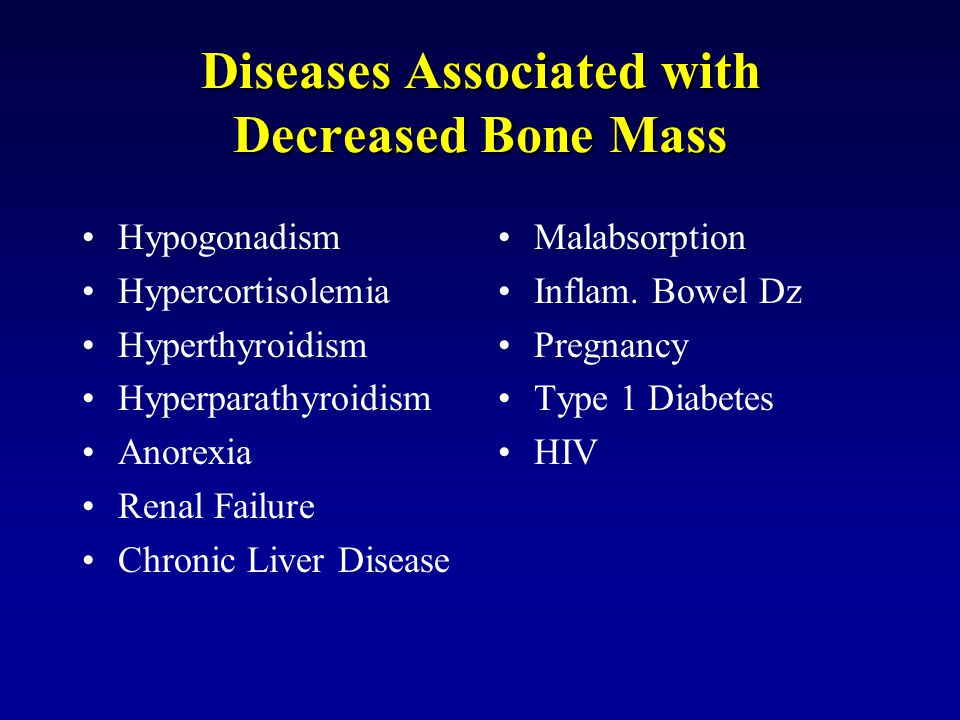 Diseases Associated with Decreased Bone Mass
