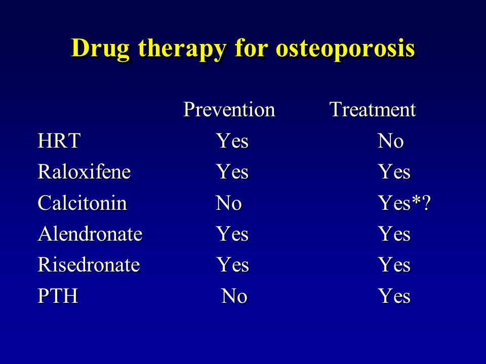 Drug therapy for osteoporosis