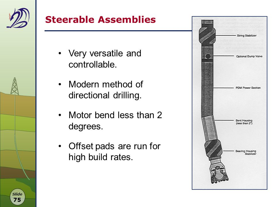 Steerable+Assemblies+Very+versatile+and+controllable.+Modern+method+of+directional+drilling.+Motor+bend+less+than+2+degrees. drilling manager dragon oil (turkmenistan) ltd ppt video online