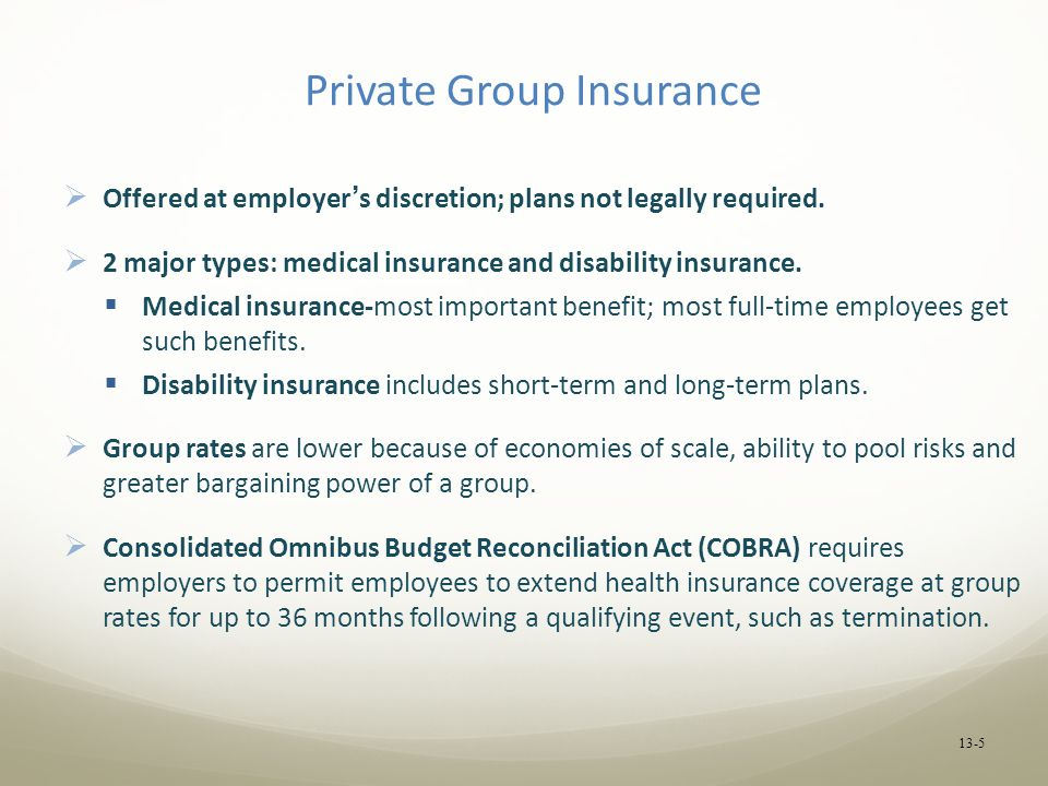 Private Group Insurance