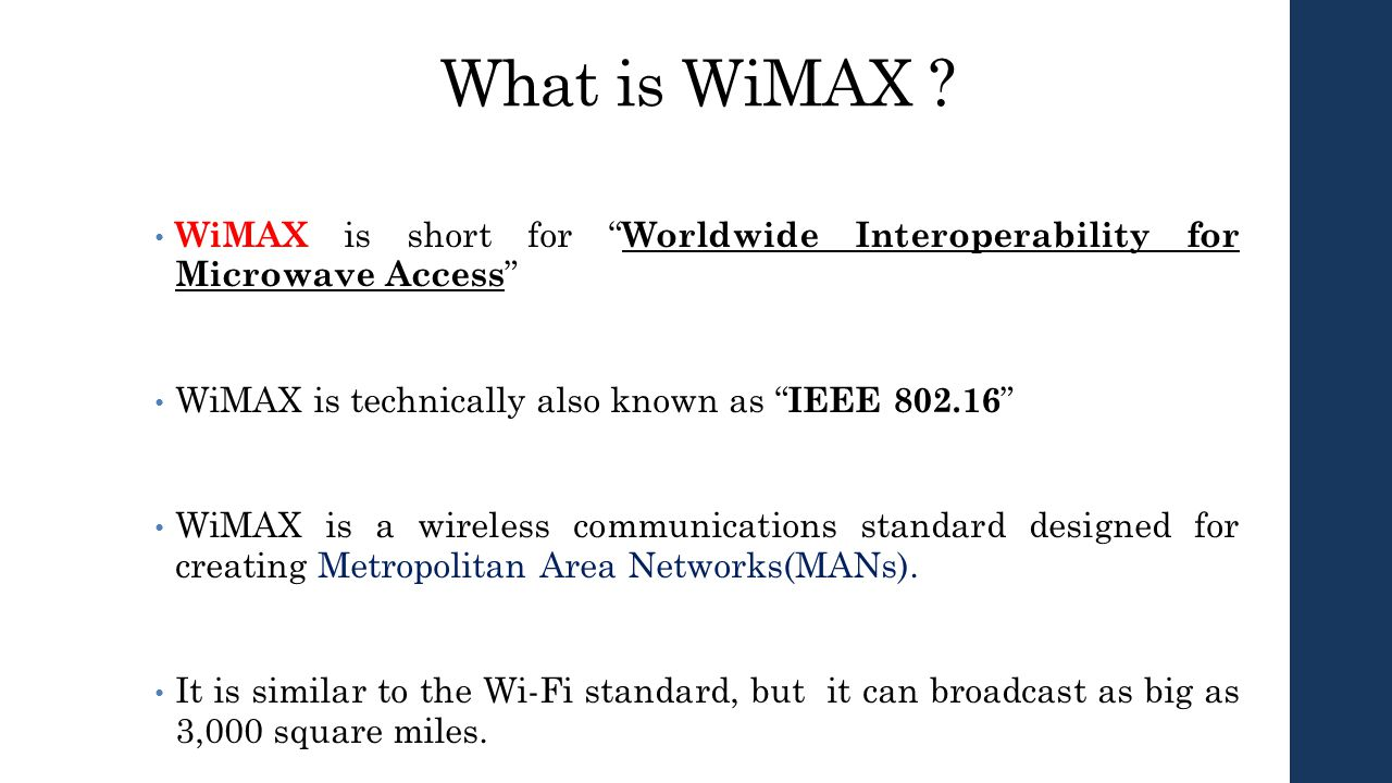 What is WiMAX 38