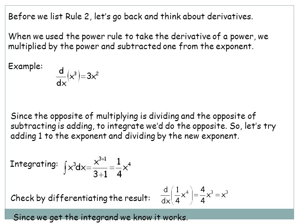 list of integration rules pdf