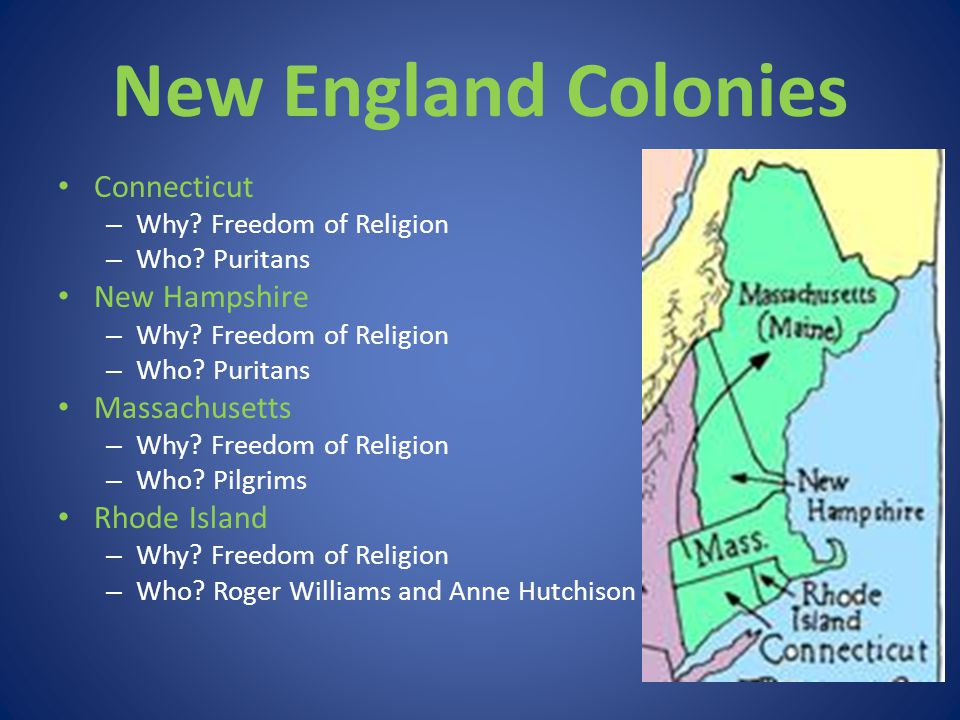New England Colonies Connecticut New Hampshire Massachusetts