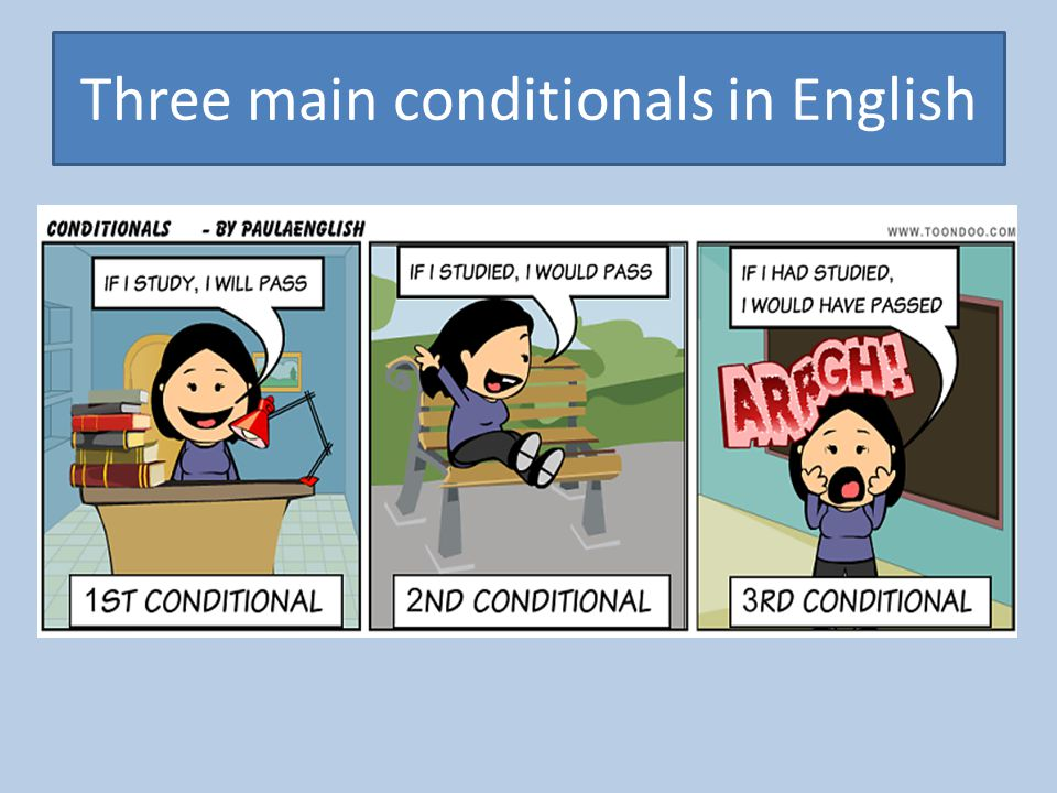Three main conditionals in English