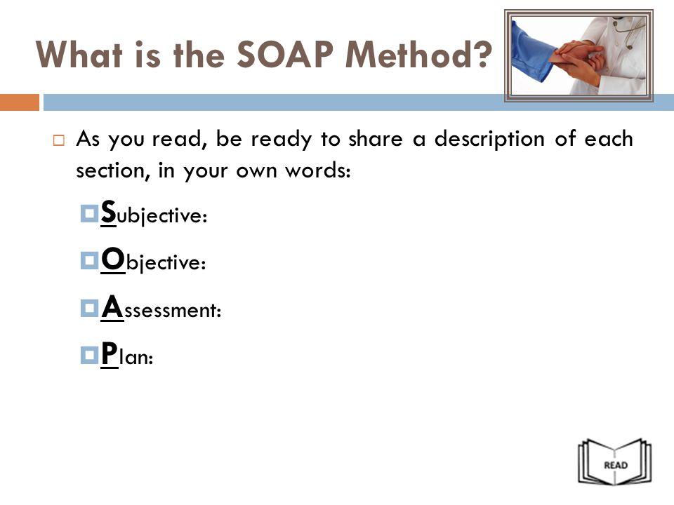Lesson 1 8: The SOAP Note Unit 1: Mental Health - ppt video online