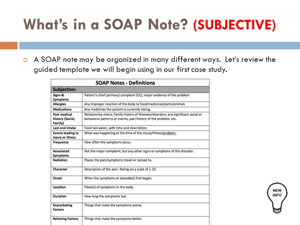 soap note mental health