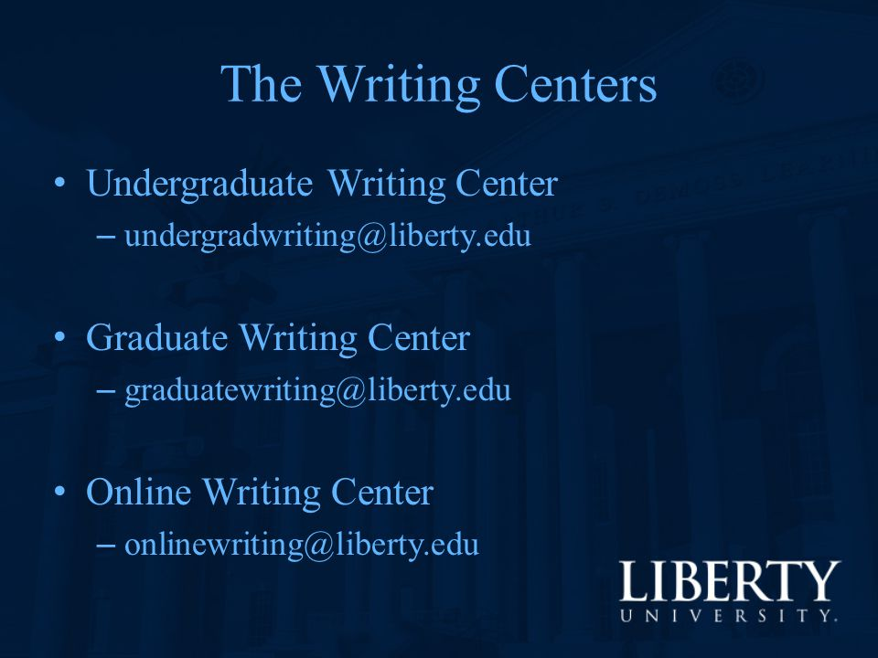The Writing Centers Undergraduate Writing Center