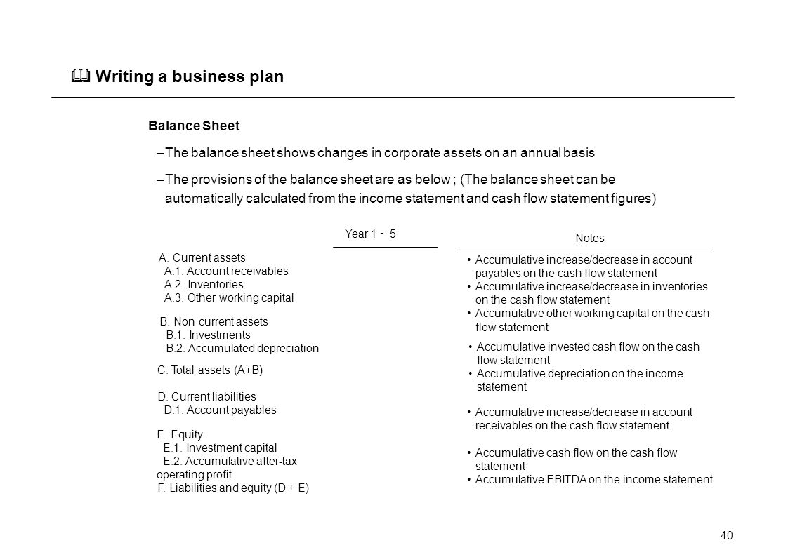 capital business plan
