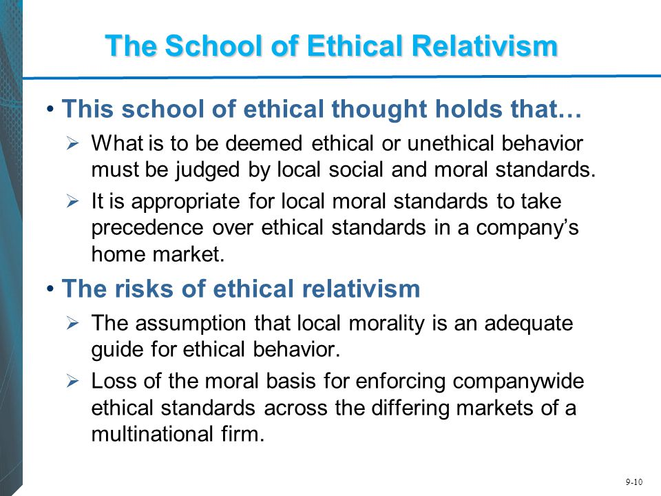 The School of Ethical Relativism